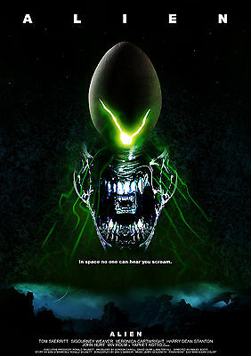 Alien The Movie New A3 Canvas Giclee Art Print Poster