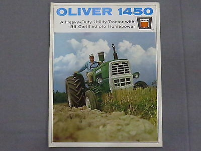 original 1967 Oliver 415 Trail Type 82 Mounted Mowers Brochure Catalog Tractor