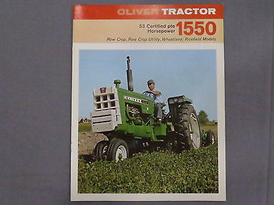 original 1969 Oliver 1550 Tractor sales Brochure Catalog