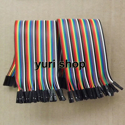 80pcs 20cm Female to Female Dupont Wire 2.54mm breadboard Jumper Cable Arduino