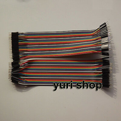 80pcs 20cm Male to Male Dupont Wire 2.54mm breadboard Jumper Cable Arduino 1p-1p