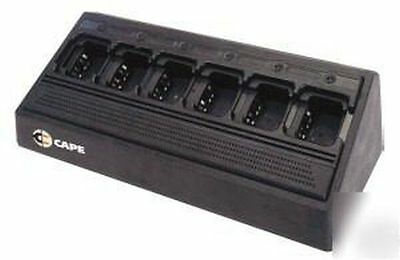 Cape Universal 6 Bay 2 Way Radio Battery Charger - New