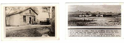 2 RPCC Postcards/Fort Bridger, Wyoming/Signed by James Perry(Museum)