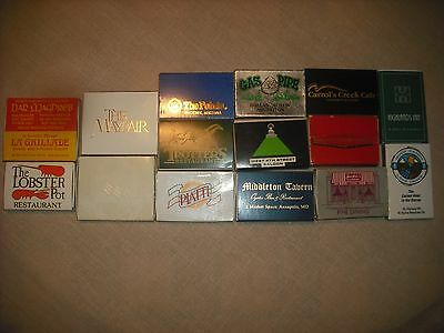 Lot of 15 Vintage Matchboxes- Hotels & Restaurants-Good to Mint Condition