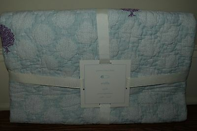 NWT Pottery Barn Kids Stella Elephant nursery crib toddler quilt