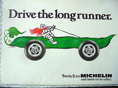 Vintage glossy advert `switch to michelin and insist on no other`,11.5x8.25 inch