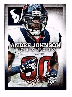 2013 Panini Absolute Retail, Texans, Team Set !! 3 Cards !! Andre Johnson !!