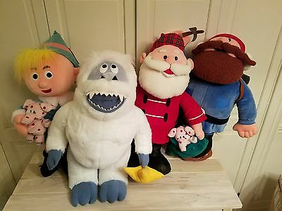 """1999 Cvs Rare X-Large 21"""" Rudolph The Reindeer Land Of The Misfit Toy Plush Lot"""