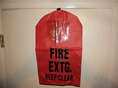 """RED FIRE EXTINGUISHER COVER (With Window)  20"""" x 11 1/2""""  NEW  FEC1W"""