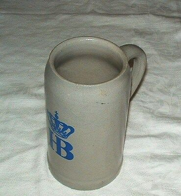 HOF-BRAUHAUS MUNCHEN Stoneware 1 L Beer Stein GERMANY BARWARE ADVERTISING