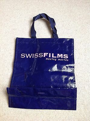 Lovely Shiny Purple Swiss Films Moving Movies Tote Bag With Pink Lettering