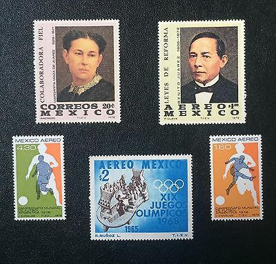 5 X Mexico, Mexican Stamps
