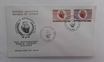 CYPRUS 1972 First Day Cover, East Mediterranean. Medical congress. #2