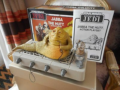 VINTAGE 1980's STAR WARS RETURN OF THE JEDI JABBA THE HUTT PLAY SET - BOXED