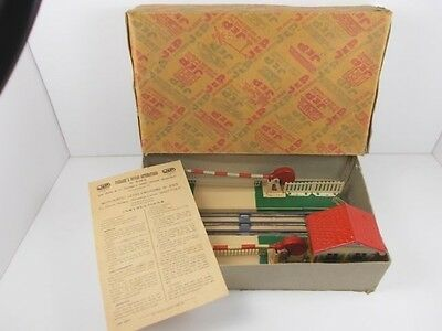 French Jep O Gauge Automatic Level Crossing (Boxed)
