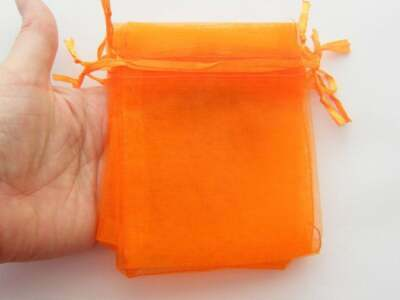 BULK 100 Organza bags orange - medium