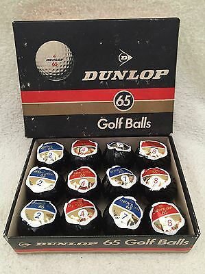 Rare Boxed Set Of Dunlop Wrapped Golf Balls (12).