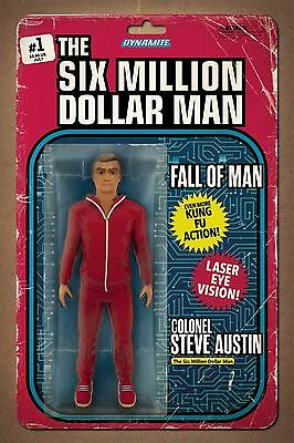 Six Million Dollar Man: Fall Of Man #1 Action Figure Variant (Dynamite 2016)