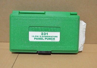 Greenlee 231 15-Pin D-Subminiature Panel Punch