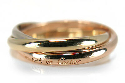 Cartier Trinity Ring Gr. 49 750 Gelbgold Rotgold Weißgold [BRORS 14081]