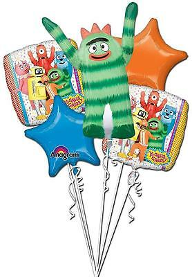 Yo Gabba Gabba 1-9 Birthday Balloon Bouquet 5 pcs Birthday Party