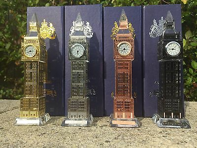 London Big Ben Crystal Glass Clock With Changing Lights-British Souvenir *sale*