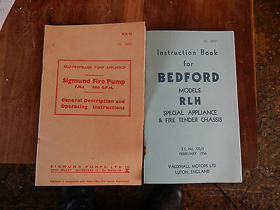 Bedford RLHZ Green Goddess and Sigmund pump manual