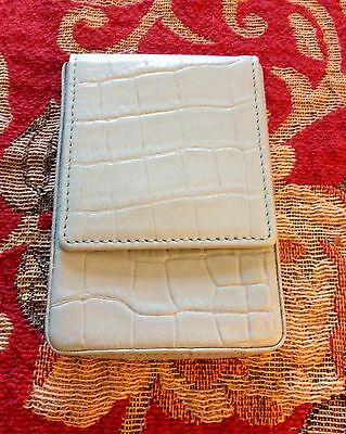 By Levenger - Powderblue Leather Folio for Wallet/business Cards, New, Cool