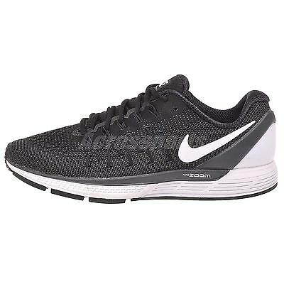 Nike Air Zoom Odyssey 2 Running Mens Shoes Black White 844545-001