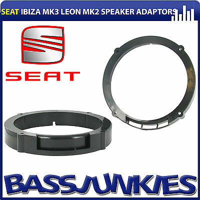 "Seat Ibiza 6L 2002-08 MK3 165mm 17cm 6.5"" Rear Door Car Speaker Bracket Adaptors"