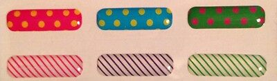 Home Button Stickers For Samsung Galaxy S4 NOTE 2/3. DOTS & STRIPES. US SELLER!!