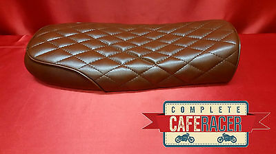 Bs12 Brat / Scrambler Style Cafe Racer Seat Finished In Brown Leatherette