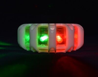 BOAT & MARINE NAVIGATION RUNNING LIGHT RED GREEN WHITE NO WIRING LED 3 x AAA OZ
