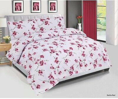 Plum Flower Cotton Bedding Set, Quilt Cover,  Duvet Cover Set all sizes 4 Pieces