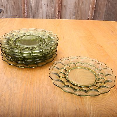 7 Imperial Glass Provincial Green Verde Plates