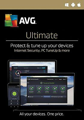 Avg Ultimate 2017 2 Year - Unlimited Devices - Windows, Mac Android - Download