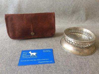 Handmade Goat Leather Tobacco Pouch WTP-S press stud iPad MP3 Billy Goat Designs