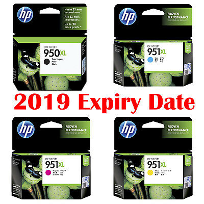 4pcs Genuine HP 950XL 951XL Cyan Magenta Yellow OfficeJet Pro 276DW 8100 8600+