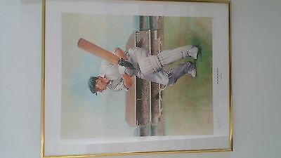 Sir Donald Bradman Limited edition Print Signed by The Don- 362 of 850
