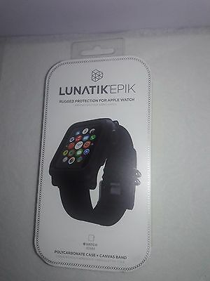 LUNATIK EPIK Case and Band for Apple Watch 42mm Black EPIK-006