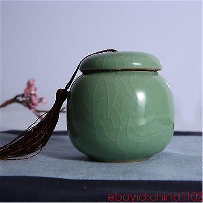 Ice crack China tea caddies Pretty tea pot storage canister Ceramic tea jar box