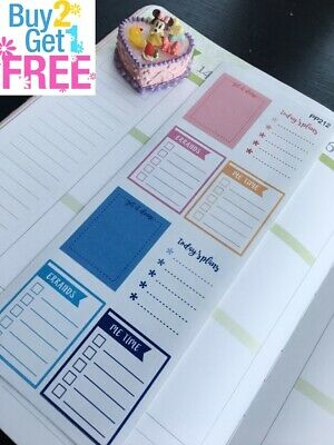 PP212 -- Functional Boxes Life Planner Stickers for Erin Condren (8pcs)