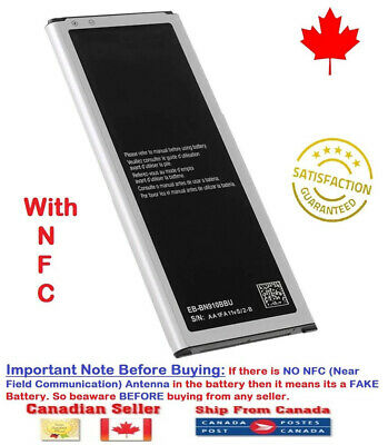 New Original OEM Samsung Galaxy Note 4 Battery + NFC  N9100 EB-BN910BBU 3220mAh