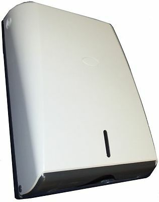 TD538A Slim Paper Towel Dispenser, Lockable Unit, Made from Strong Plastic, Smal