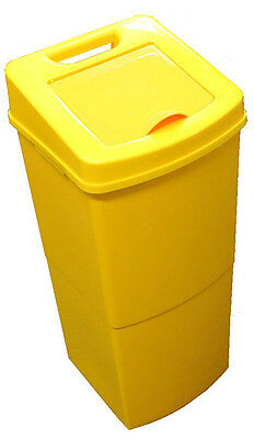 NB342B Medical Waste Disposal Unit 42L Yellow, Suitable for Hospitals and Medica