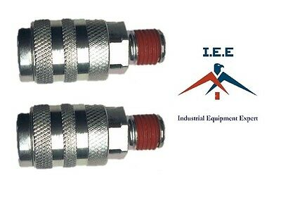 """2 pc Male Quick Coupler 1/4"""" NPT Connector For Air Hose and Air Tools"""