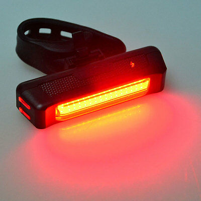 COB LED Red 6 Modes USB Rechargeable Bicycle Bike Cycling Front Rear Tail Light