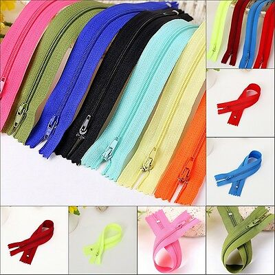 50pcs Nylon Coil Zippers Tailor Sewer Craft Wholesale Colorful  Crafter's