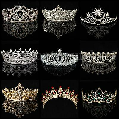 Crystal Rhinestone Wedding Bridal Prom Party Crown Tiara Headband Hair Tiaras