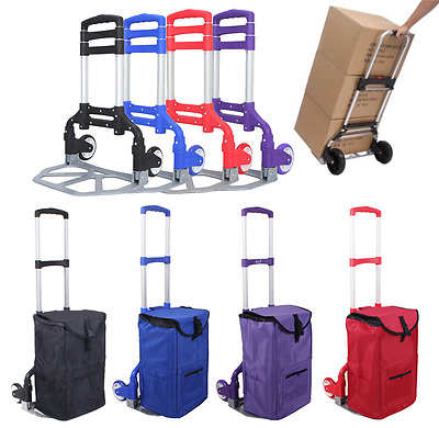 NEW 170lbs Folding Dolly Cart Push Hand Truck Moving Warehouse Platform Trolley